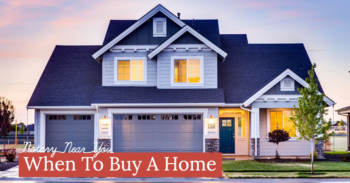 Sitting on the fence about when to buy a home?