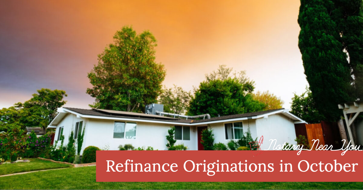 Half of October Originations were Refinances!