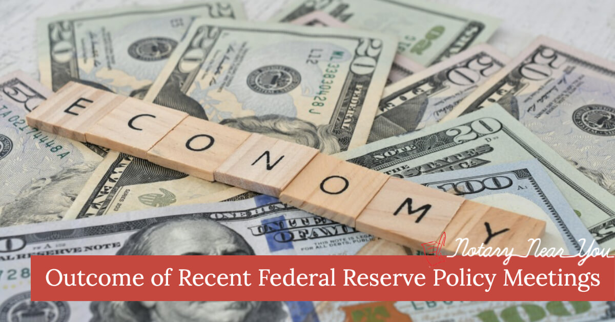 Outcome of Recent Federal Reserve Policy Meetings included the intent to hold rates low until inflation increases