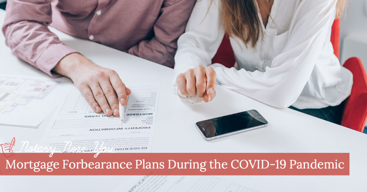 Mortgage Forbearance Plans during the COVID-19 Pandemic