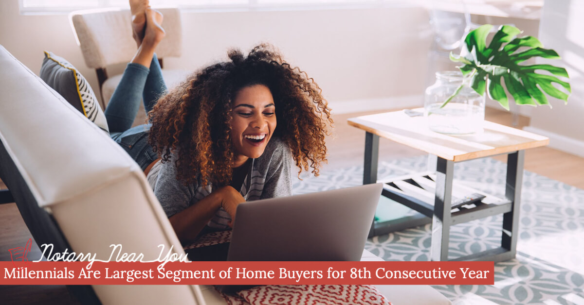 Millennials Are Largest Segment of Home Buyers for 8th Consecutive Year